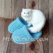 Косметика ручной работы. Ярмарка Мастеров - ручная работа Мыльный набор Кот в тапочки. Handmade.