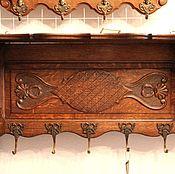 Для дома и интерьера ручной работы. Ярмарка Мастеров - ручная работа антикварная вешалка с крючками и полкой. Handmade.