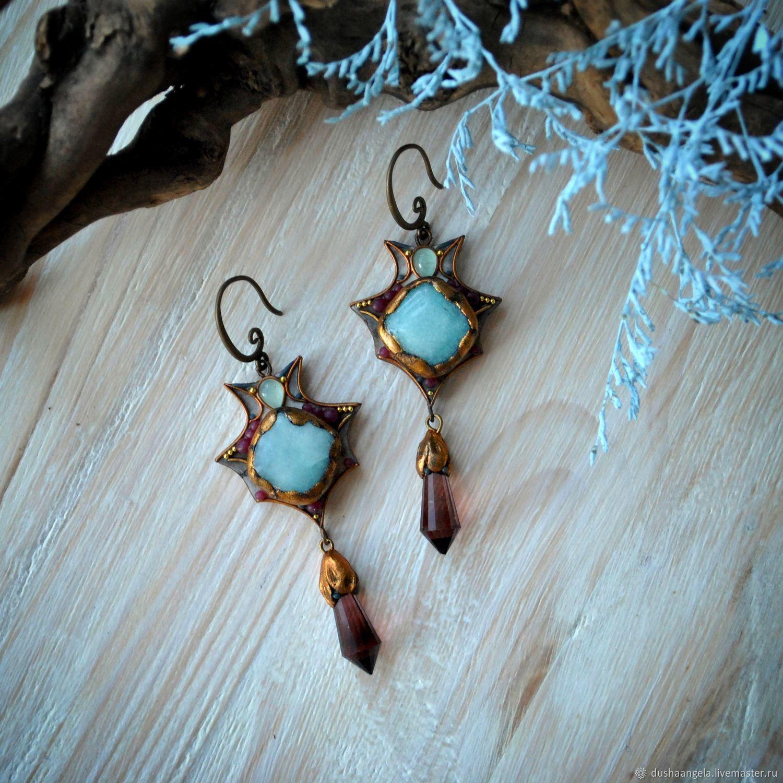 Earrings 'Oculos fluctuus' ('Eyes of waves'), Earrings, Vladimir,  Фото №1