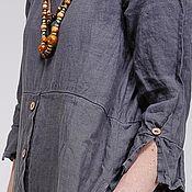 Одежда ручной работы. Ярмарка Мастеров - ручная работа Бохо платье 4-4 графит. Handmade.