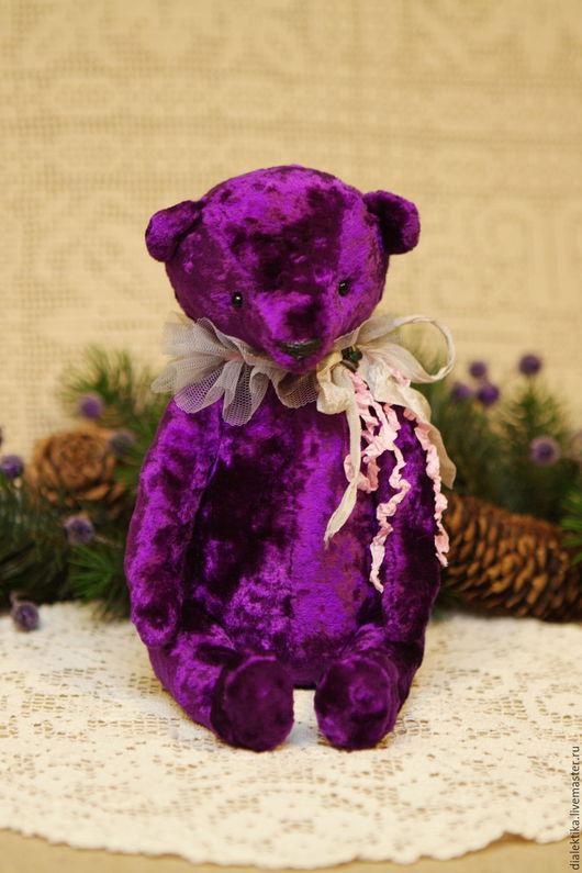Мишки Тедди ручной работы. Ярмарка Мастеров - ручная работа. Купить Флокси. Handmade. Фиолетовый, древесные опилки