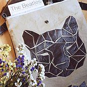 """Рюкзаки ручной работы. Ярмарка Мастеров - ручная работа Кожаный рюкзак с геометрической аппликацией """"Кошка"""". Handmade."""