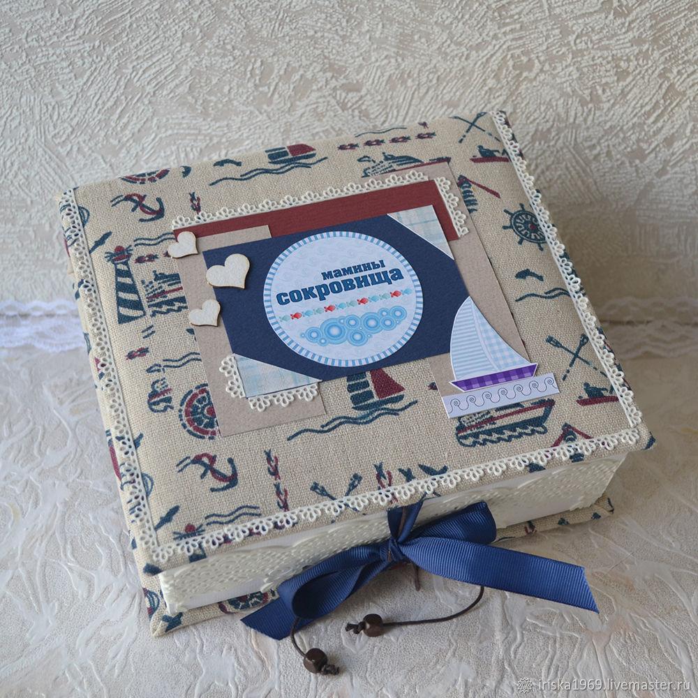 Мамины сокровища для мальчика Подарок новорожденному, Упаковочная коробка, Москва,  Фото №1