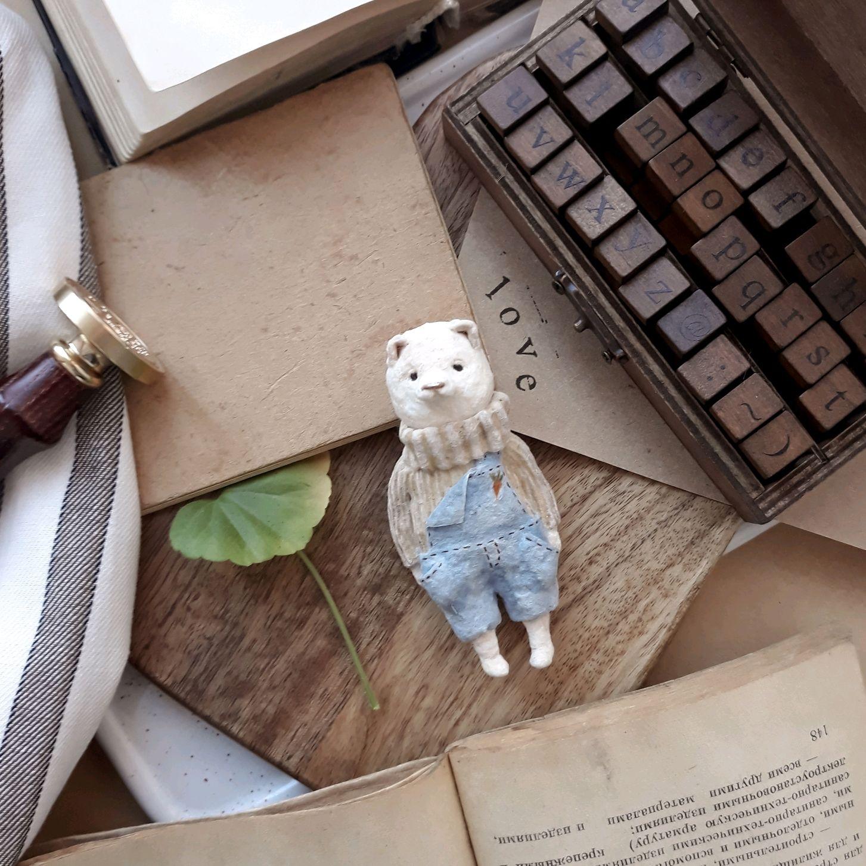 Ватная елочная игрушка Мишка, Елочные игрушки, Йошкар-Ола,  Фото №1