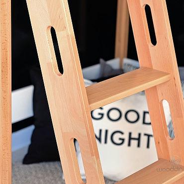 Мебель ручной работы. Ярмарка Мастеров - ручная работа Кровать чердак буковая Арвен XL высота 180 см. Handmade.