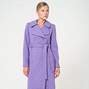 Одежда ручной работы. Ярмарка Мастеров - ручная работа Женское пальто сиреневое. Handmade.