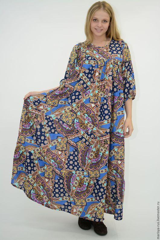 """Платья ручной работы. Ярмарка Мастеров - ручная работа. Купить Платье """"Яркий печворк"""". Handmade. Комбинированный, яркое платье"""