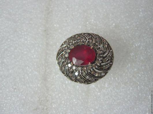 Кольца ручной работы. Ярмарка Мастеров - ручная работа. Купить Уникальное кольцо с рубинами и бриллиантами. Handmade. Серебро 925 пробы