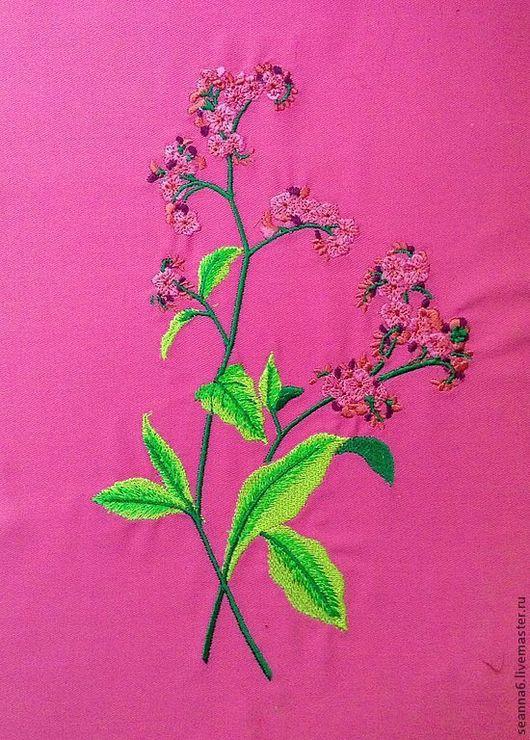 """Картины цветов ручной работы. Ярмарка Мастеров - ручная работа. Купить Вышивка на одежде, аппликация, картинка, картина """"Яркое соцветие"""". Handmade."""