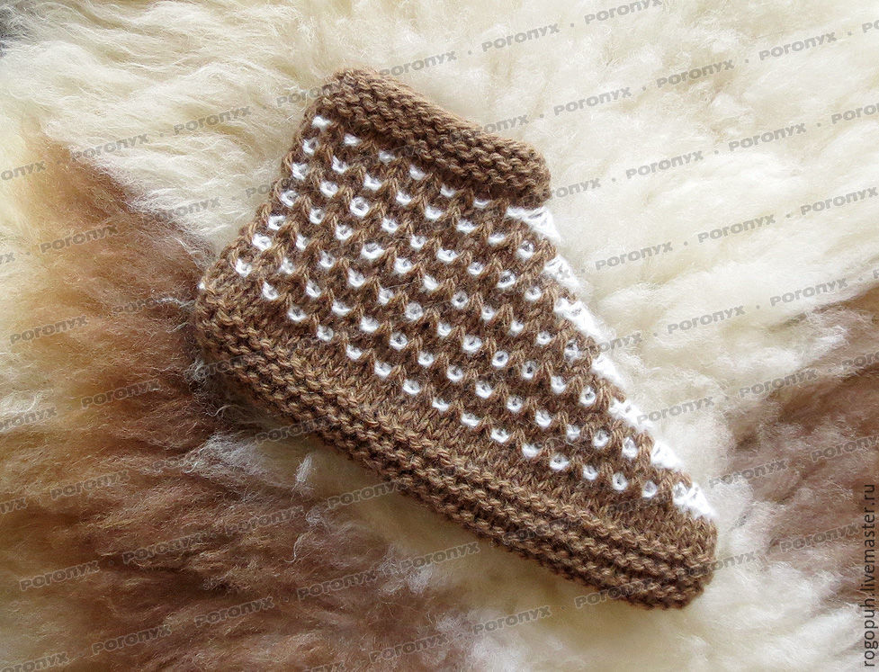 A deal knit №2 (with the addition of goat down), Slippers, Nalchik,  Фото №1