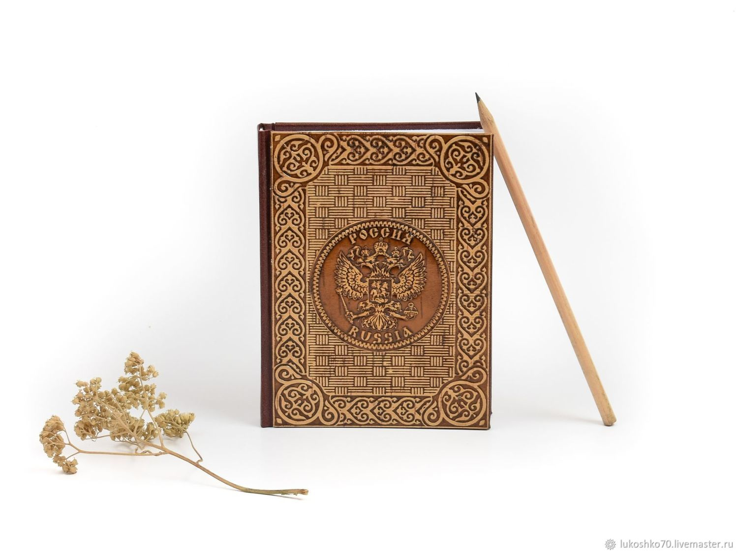 Diary decorated with birch bark 'Russia', Diaries, Tomsk,  Фото №1