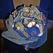 Свадебный салон ручной работы. Ярмарка Мастеров - ручная работа Букет невесты из пуговиц. Handmade.