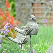 Для дома и интерьера handmade. Livemaster - original item Figurine of a Bird made of concrete Provence Vintage home and garden. Handmade.