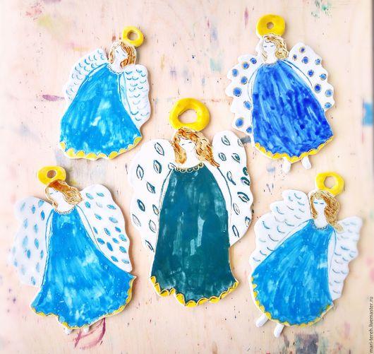 Статуэтки ручной работы. Ярмарка Мастеров - ручная работа. Купить Ангелы. Handmade. Комбинированный, полуфарфор