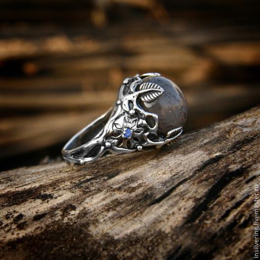 """Кольца ручной работы. Ярмарка Мастеров - ручная работа. Купить Кольцо """"Лунный Сад"""". Handmade. Кольцо, лунный камень, цветочный"""