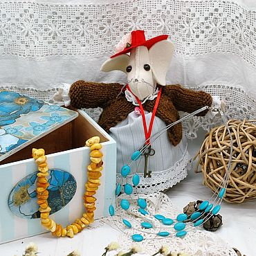 For home and interior handmade. Livemaster - original item Toys: Mouse fashionista in a hat symbol of 2020 rat. Handmade.