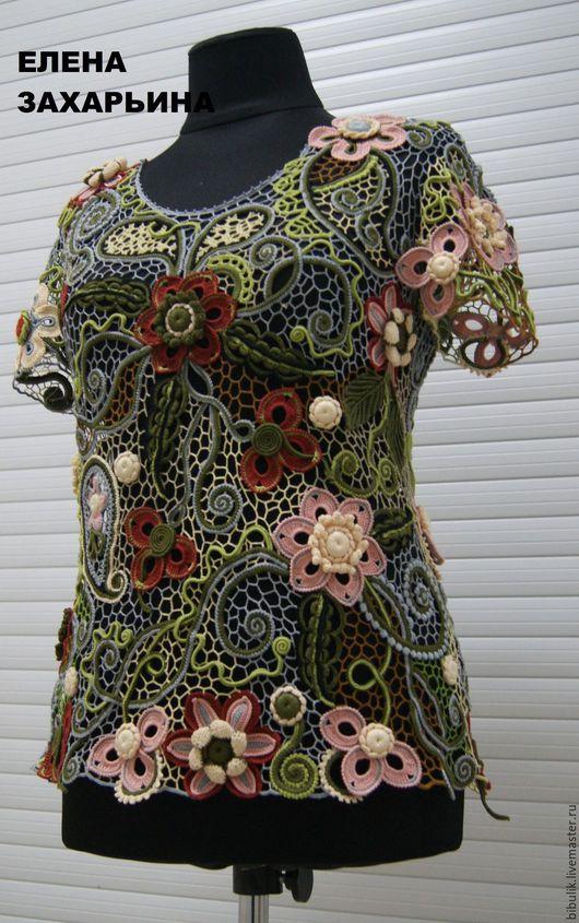 """Блузки ручной работы. Ярмарка Мастеров - ручная работа. Купить Блуза """" Лесная фея """". Handmade. Комбинированный"""