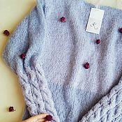 Одежда ручной работы. Ярмарка Мастеров - ручная работа Меланжевый пуловер с открытой спинкой. Handmade.