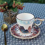 Посуда handmade. Livemaster - original item Pair of coffee for