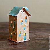 Для дома и интерьера ручной работы. Ярмарка Мастеров - ручная работа домик с текучими окнами. Handmade.