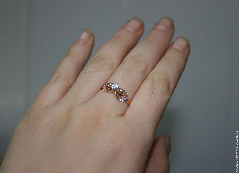 золотое кольцо Бесконечность (золото 585) – купить в интернет ... 436491b374389