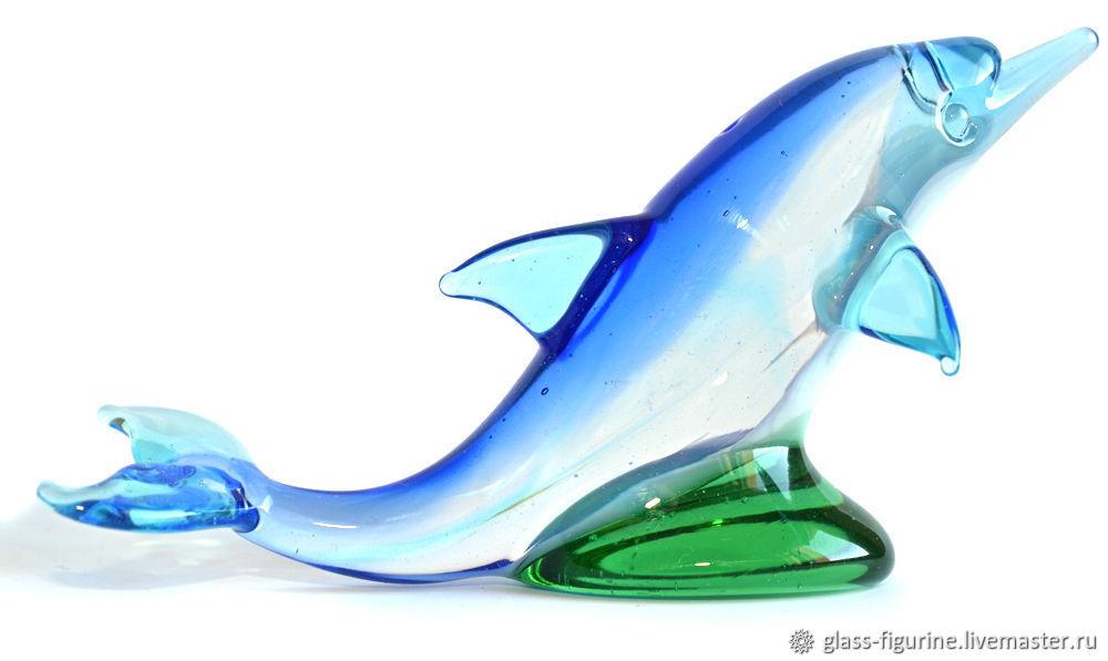 Дельфин Фигурка стеклянная Фигурка из стекла ручной работы, Статуэтки, Санкт-Петербург, Фото №1