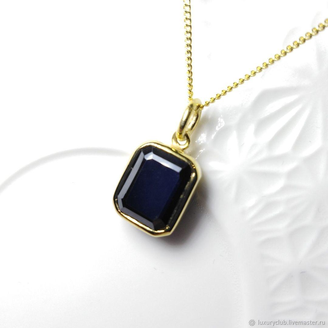 Black diamond pendant on chain buy, Pendant, Tolyatti,  Фото №1