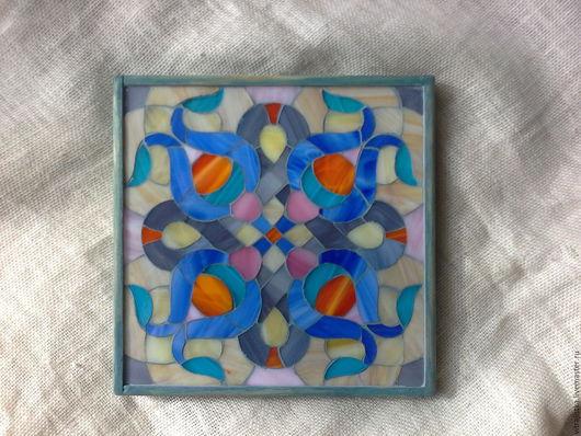 """Элементы интерьера ручной работы. Ярмарка Мастеров - ручная работа. Купить ,, орнамент"""" мозаика из стекла. Handmade. Комбинированный, подарок"""