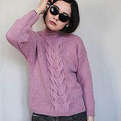 "Одежда handmade. Livemaster - original item Sweater, ""Dust Rose"" Jumper from Italian Alpaca. Handmade."