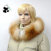 handmade. Livemaster - original item Detachable fur trimmed on the hood of fur Siberian red Fox.. Handmade.