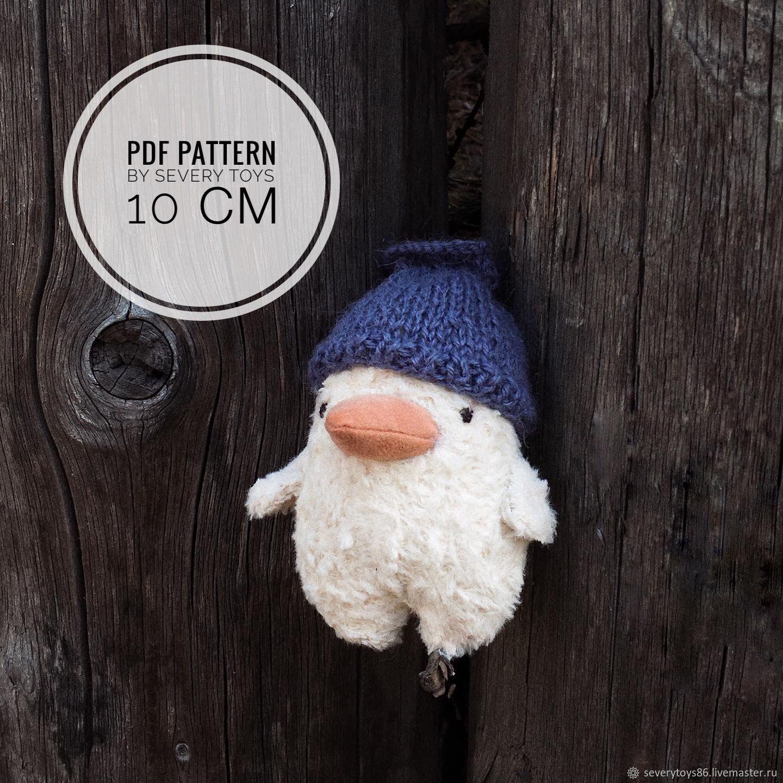 Выкройка птички 10 см, Выкройки для кукол и игрушек, Ханты-Мансийск,  Фото №1