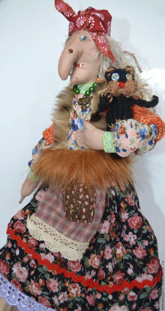 Сказочные персонажи ручной работы. Ярмарка Мастеров - ручная работа. Купить Баба Яга оберег для дома и семьи... Handmade. Комбинированный
