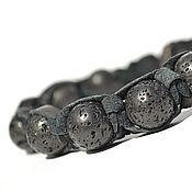 Украшения handmade. Livemaster - original item Shamballa bracelet with stone volcanic lava. Handmade.