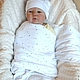 """Для новорожденных, ручной работы. Заказать Комплект для новорожденного """"Нежность"""" 4пр. Venercho. Ярмарка Мастеров. Пеленка, набор пеленок"""