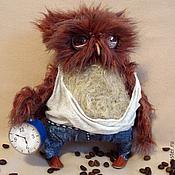 Куклы и игрушки ручной работы. Ярмарка Мастеров - ручная работа С Добрым утром! (кофейный). Handmade.