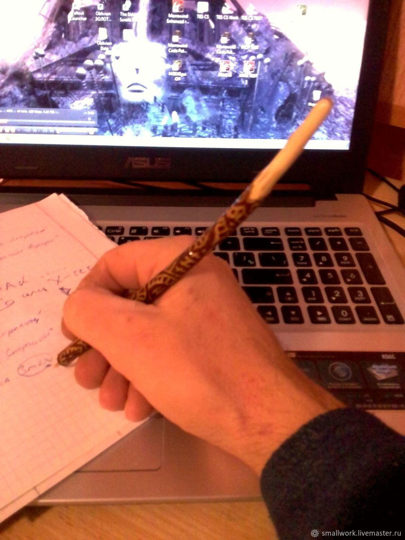 Карандаши, ручки ручной работы. Ярмарка Мастеров - ручная работа. Купить Авторучка 'Рунная змея Устранения негатива и Очищения'. Handmade.