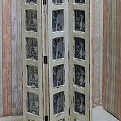Для дома и интерьера ручной работы. Ярмарка Мастеров - ручная работа Ширма с фоторамками - три створки. Handmade.