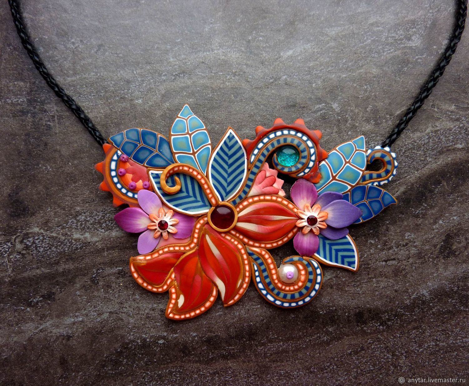 Necklace from polymer clay, Necklace, Volgodonsk,  Фото №1