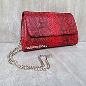 Сумки и аксессуары handmade. Livemaster - original item Clutch bag of genuine Python leather. Handmade.