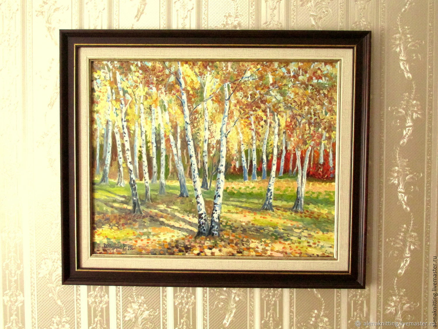 Oil painting 'Country birch calico.', Pictures, Moscow,  Фото №1