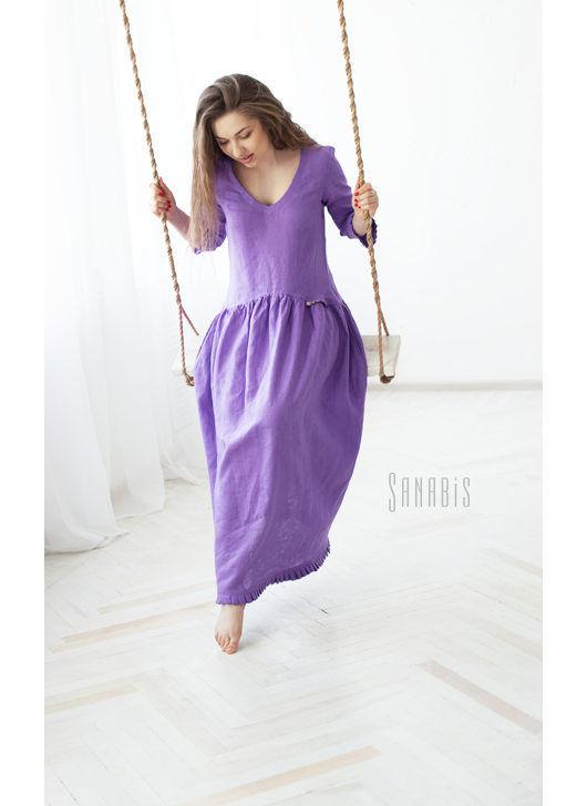 Льняные платья от мастеров