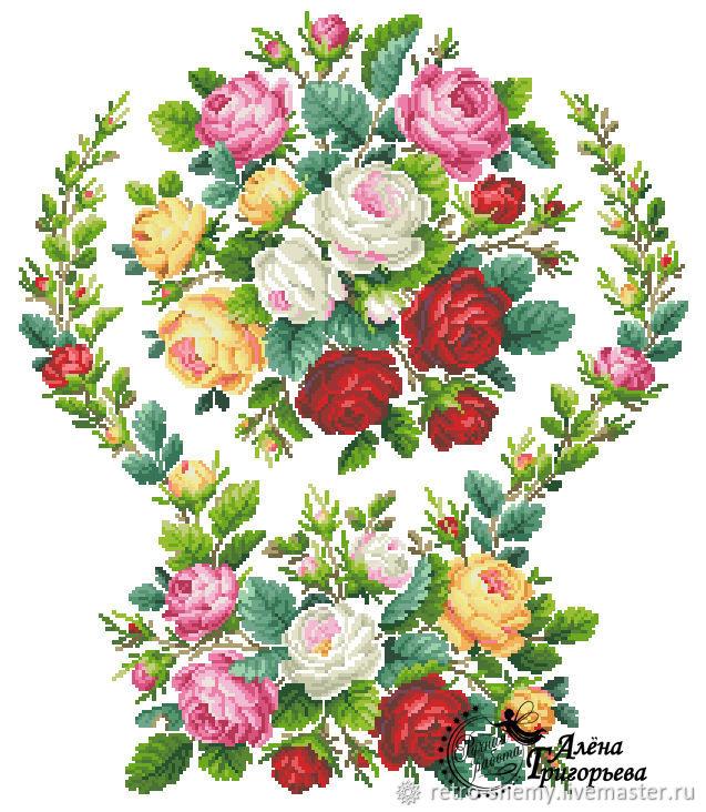 Вышивка схемы садовые розы