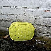 Сумки и аксессуары ручной работы. Ярмарка Мастеров - ручная работа Желтая сумка из эко кожи. Handmade.