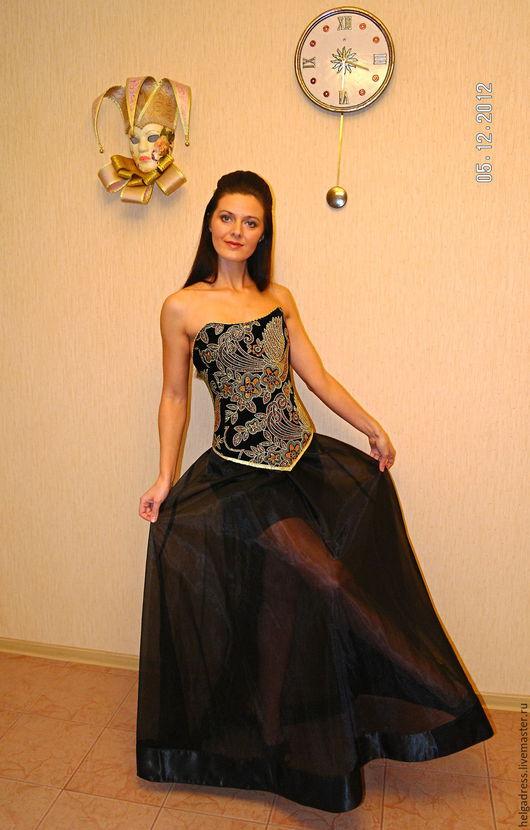 """Платья ручной работы. Ярмарка Мастеров - ручная работа. Купить Вечернее платье """"Барокко"""", платье в стиле D&G. Handmade. Черный"""