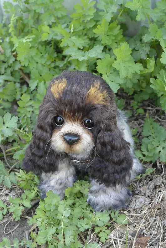 """Мишки Тедди ручной работы. Ярмарка Мастеров - ручная работа. Купить """"Агат"""" щенок кокер-спаниеля.. Handmade. Собака, щенок"""