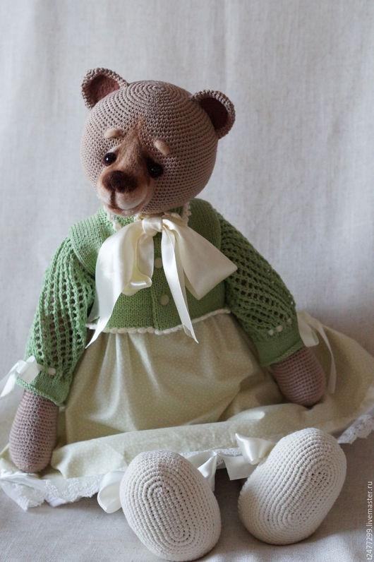 Мишки Тедди ручной работы. Ярмарка Мастеров - ручная работа. Купить Симона фон Медведеff,вязанная мишка в одежде. Handmade.