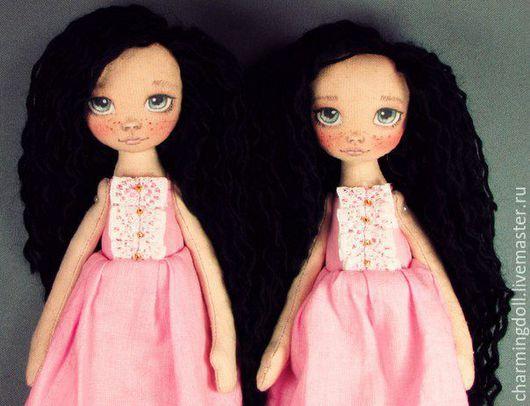 Коллекционные куклы ручной работы. Ярмарка Мастеров - ручная работа. Купить Авторская текстильная кукла. Handmade. Розовый, текстильная игрушка