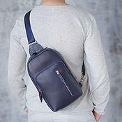Сумки и аксессуары handmade. Livemaster - original item Men`s leather sling bag