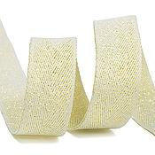 Материалы для творчества handmade. Livemaster - original item Braid Kiper metallized 16 mm yellow. Handmade.