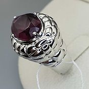 Украшения handmade. Livemaster - original item Silver ring with fluorite 16h10 mm. Handmade.